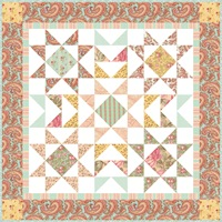 flying geese border star floral