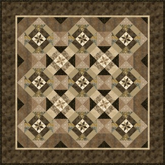 serendipity merge quilt taupe