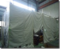 防音防塵テント
