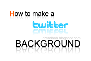 How to make a Twitter Background