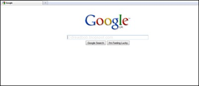Google's New Homepage (Click to Enlarge)