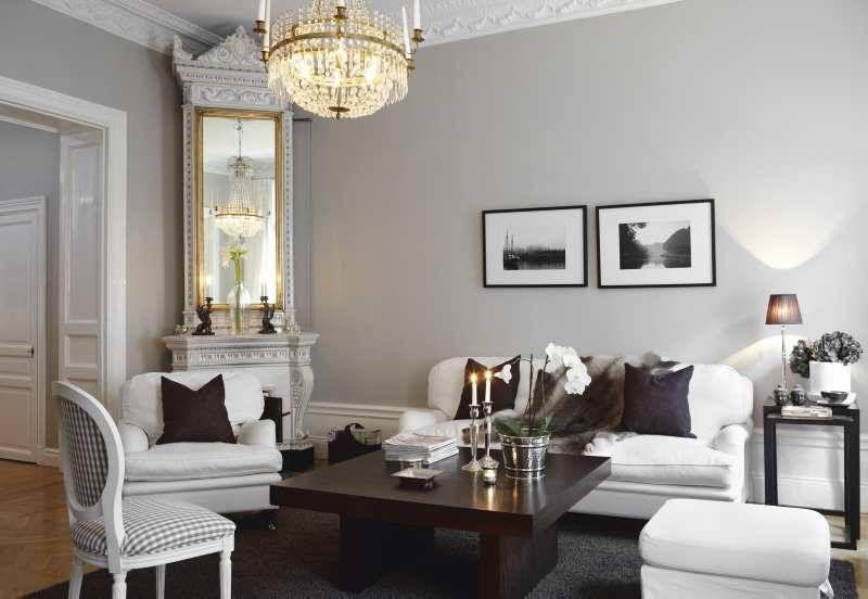 eine dunkelgraue wand im esszimmer und der rest seite. Black Bedroom Furniture Sets. Home Design Ideas