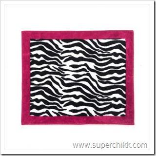 Funky Zebra Accent Floor Rug