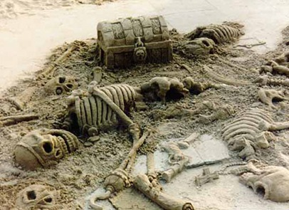 skeleton-sand-sculpture