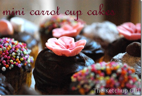 mini carrot cup cakes