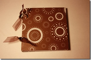 Mini Album 4x4 Brown