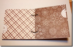Mini Album 4x4 Brown Inside