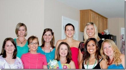 jennifer's shower with girls