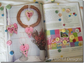 Blog homespun project with buttons