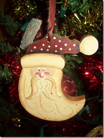 painted santa ornie