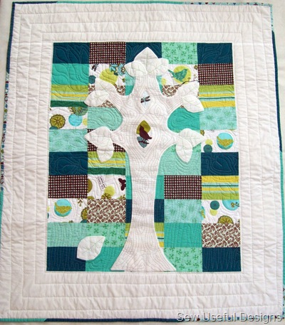 Finished quilt outside 2