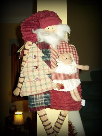 Xmas 10 Santa hanging doll
