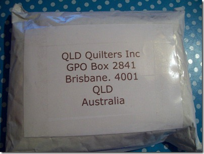 QLD Quilters address parcel