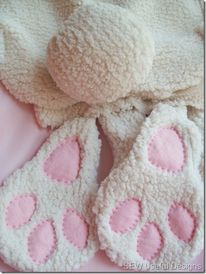bunny costume feet and tail