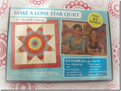 Lone Star quilt dvd