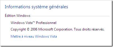 Windows Vista heißt im Französischen Vista Professional