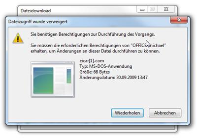 Dateizugriff wurde verweigert