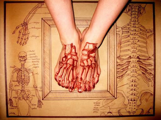 Temporary Tattoos On Foot.