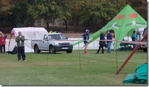 Club tent at the finish