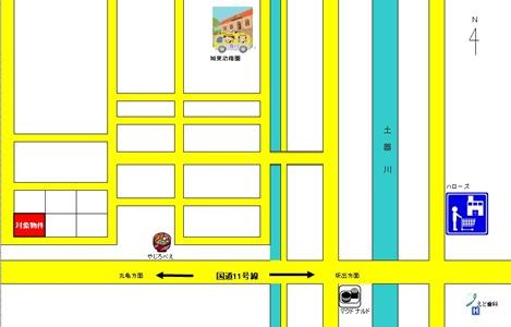 丸亀市土器町西4 正宗様 地図