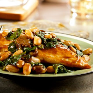 Balsamic Chicken with White Beans & Spinach