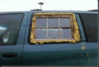 redneck car window