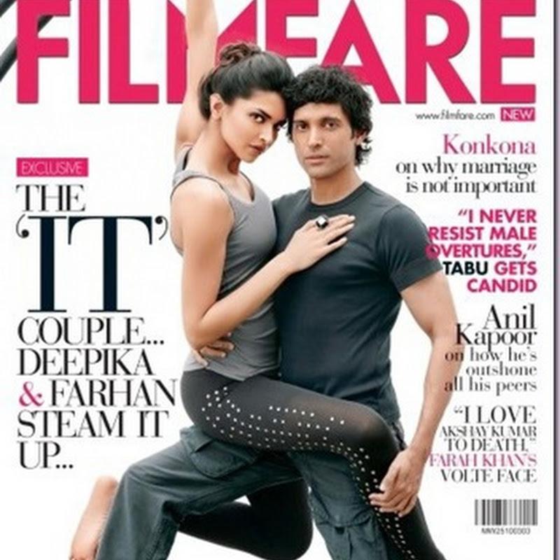 Deepika Padukone & Farhan Akhtar for Filmfare magazine