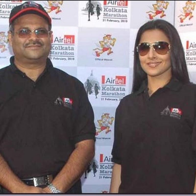 Vidya Balan promotes Airtel Kolkata Marathon