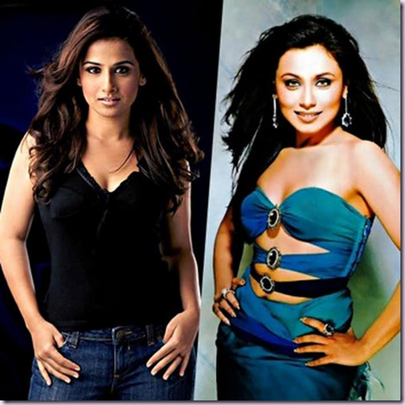 Vidya Balan, Rani Mukerjee shoots on the delhi crowded areas