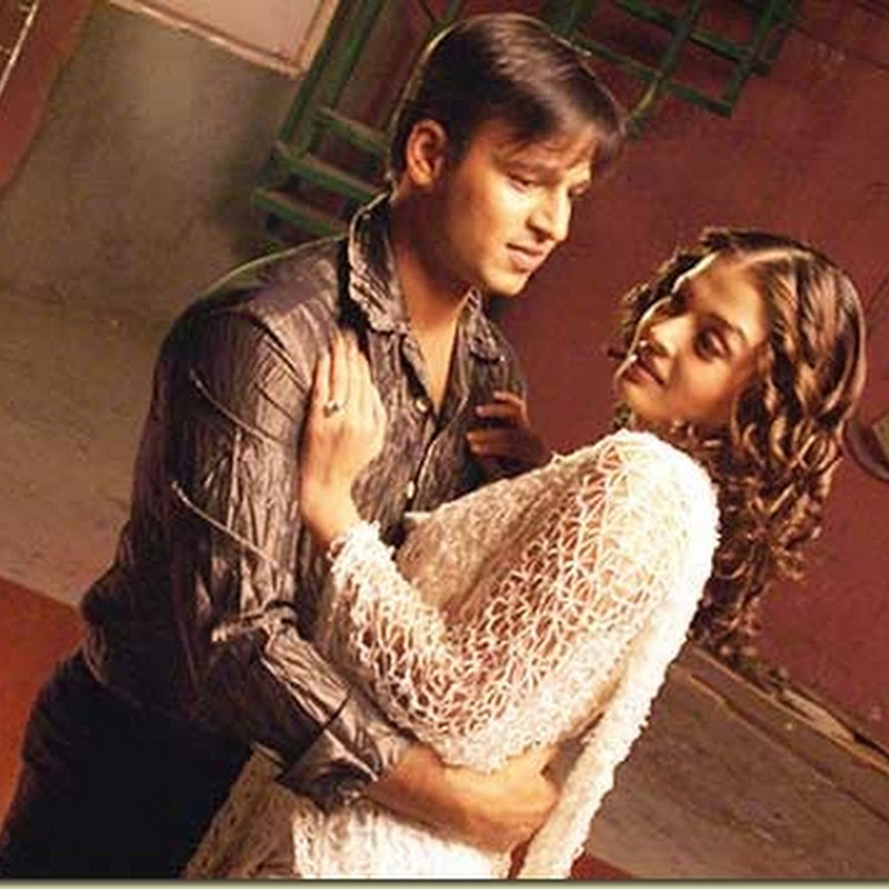 Vivek on the sets of Aishwarya's film