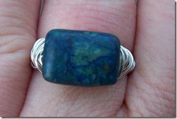 azurite=malachite ring annasjewelry