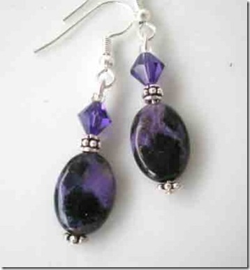 purple jasper earrings magdalene jewels