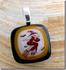chauncey flying witch pendant