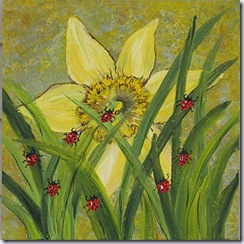 Heronkate Ladybugs and Daffodil