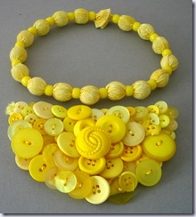 birose very yellow snappie bracelet