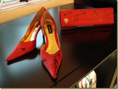 AM STILE sapato e bolsa feminino pintados à mão