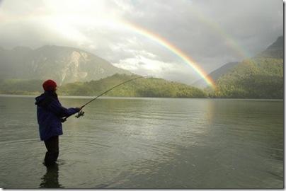 Pesca lago Rosselot
