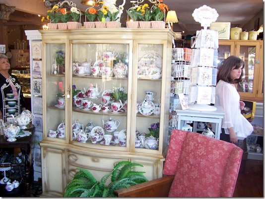 china hutch full of cups