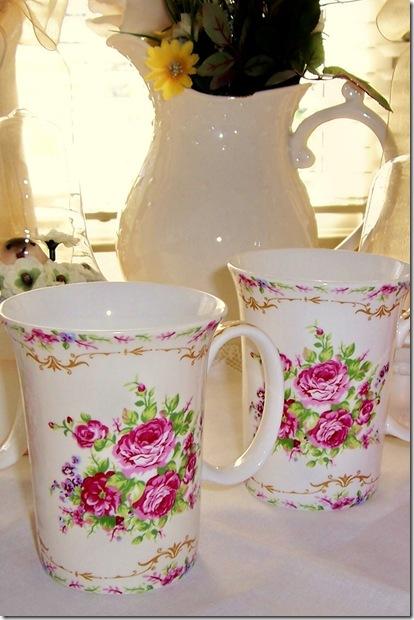 floral mugsclose up