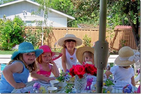 Jessies tea birthday party