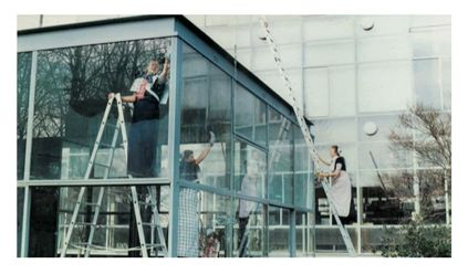 Cleaning the Rietveld Pavilion