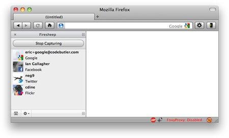 Firesheep, en plena captura de cuentas y datos personales