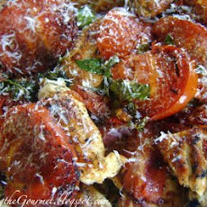 Grilled Chicken with Fresh Garden Tomatoes