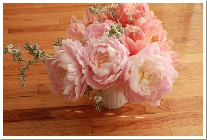 Mrs. Franklin D Roosevelt peony arrangement