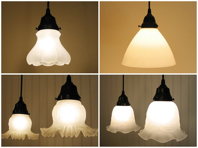 Frosted Glass -- Milk Glass Lighting Fixtures