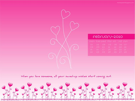 February Calendar Wallpaper Hd : Valentines day hd desktop wallpapers calendars for