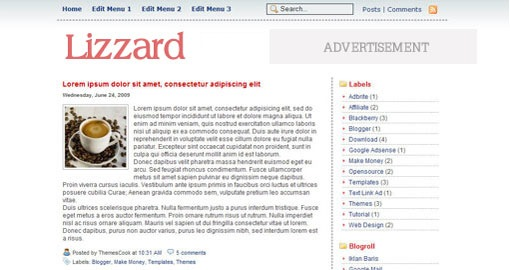 free-1-column-simplate-blogger-xml-template  lizzard