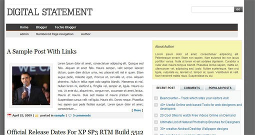 free-wordpress-converted-magazine-style-blogger-template-3-column- digital-statement