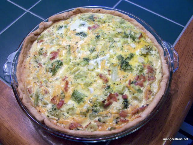 Cheddar, Bacon, Broccoli Quiche