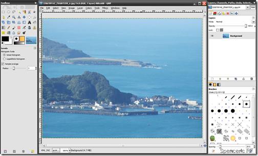 GIMP 2.6.6 介面